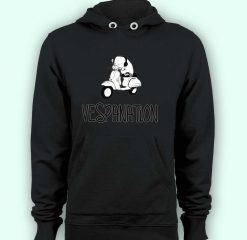Hoodie pullover black-Vespanation