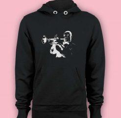 Hoodie pullover black-Trumpet Player