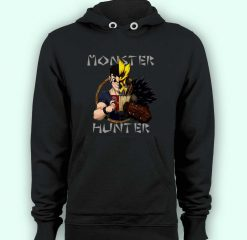 Hoodie pullover black-Monster Hunter