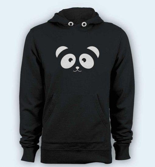 Hoodie pullover black-Panda Face