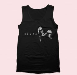 Relax With Sneakers Tank Top Mens Tank Top Womens