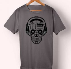 Skull Music Equalizer T-shirt