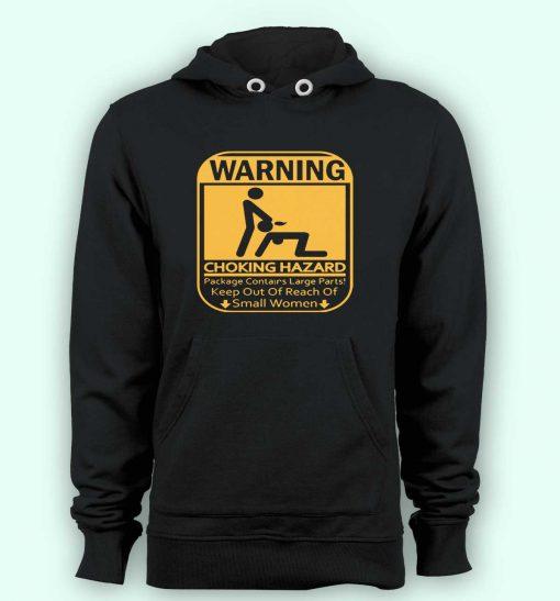 Hoodie pullover black-Warning Choking Hazard