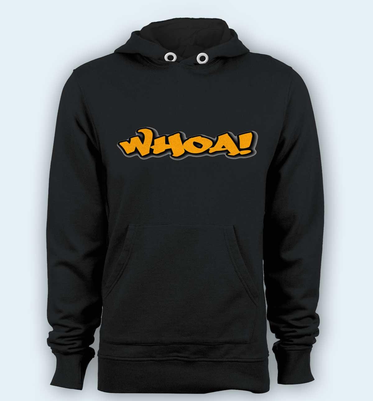 Hoodie pullover black-Whoa
