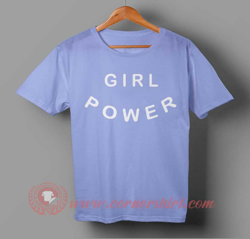 Girl Power White Word T-shirt