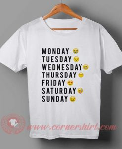 Days of Week Emoji T-shirt