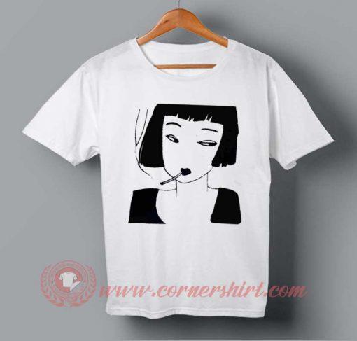 Girl Smoker T-shirt