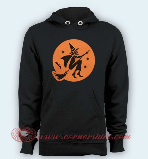 Hoodie pullover black- Witch silhouette