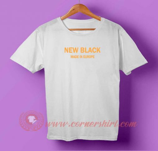 New Black Made in Europe T-shirt