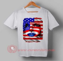 USA Face Flag Independence Day T shirt