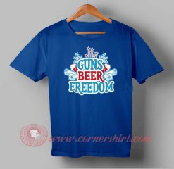 Buy T shirt Guns Beer Freedom Independence Day T shirt