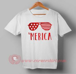 Merica Sunglasses Independence Day T shirt