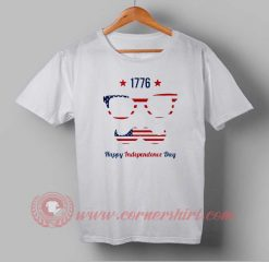 Sunglasses Flag Independence day T shirt