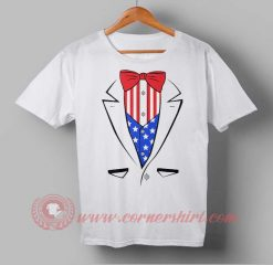 Tuxedo American Flag Independence Day T shirt