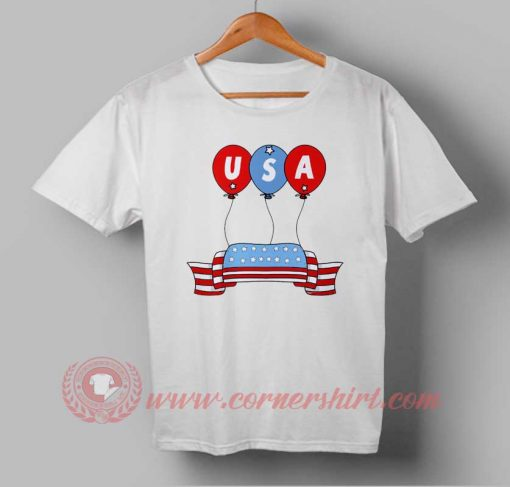 USA Ballons Independence Day T shirt