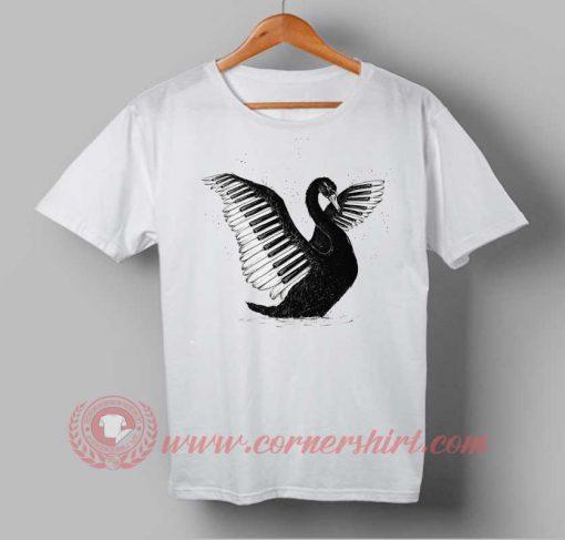 Black Swan Piano Custom Design T shirts