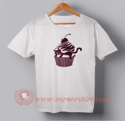 Cat Cup Cake Custom Design T shirts