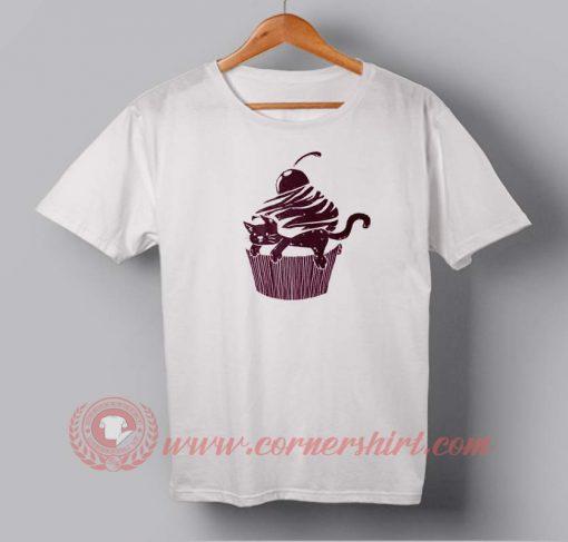 Cat Cup Cake Custom Design T shirts