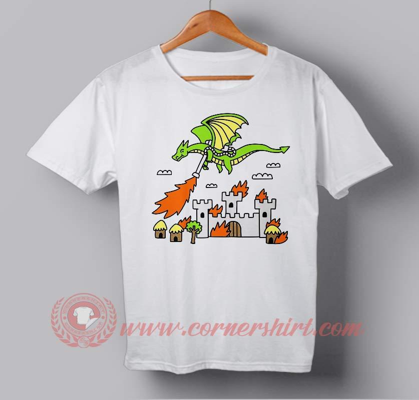 Fire dragon custom design t shirts custom design shirts for Custom fire t shirts