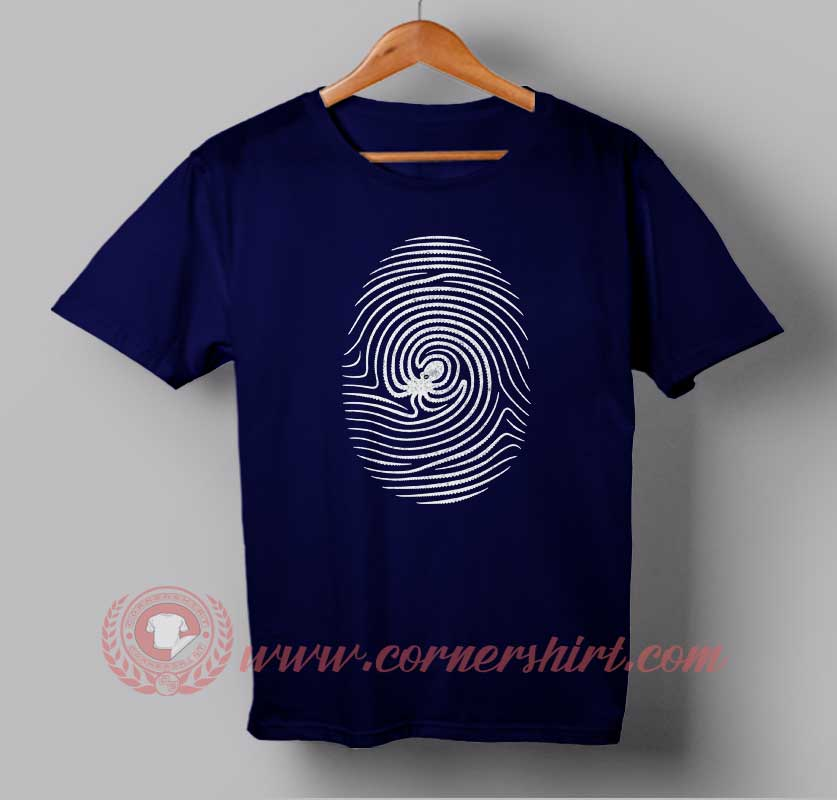 Octo finger print custom design t shirts custom design for Design custom printed shirts