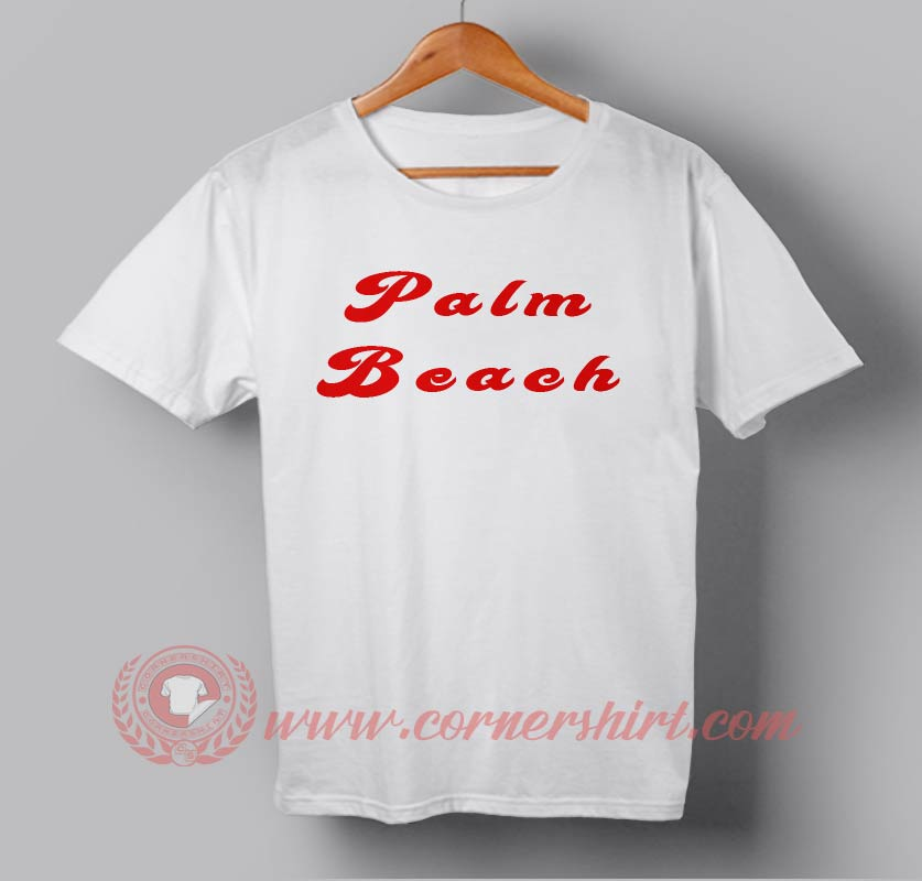 Cheap palm beach custom design t shirts custom design for Personalised t shirts cheap