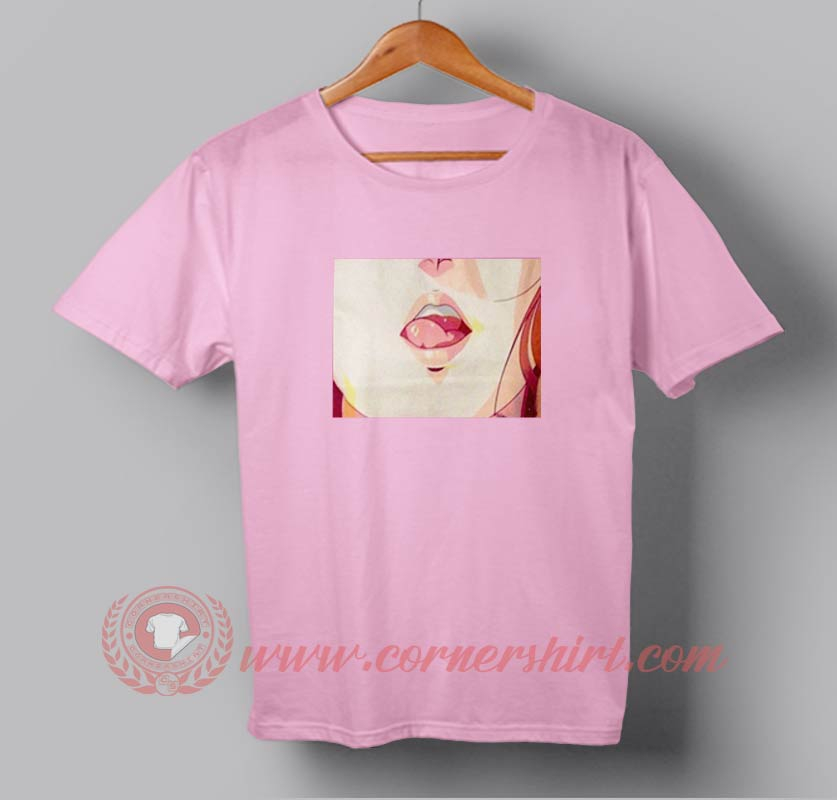 Cheap sexy lips anime custom design t shirts custom for Personalised t shirts cheap