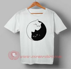 Ying Yang Cat Kittens Custom Design T shirts