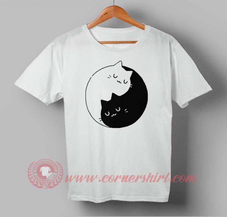 Ying Yang Cat Kittens Custom Design T shirts