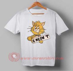 Meow Cat Custom Design T shirts