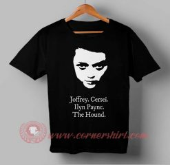 Arya Stark And Friends Custom Design T shirts