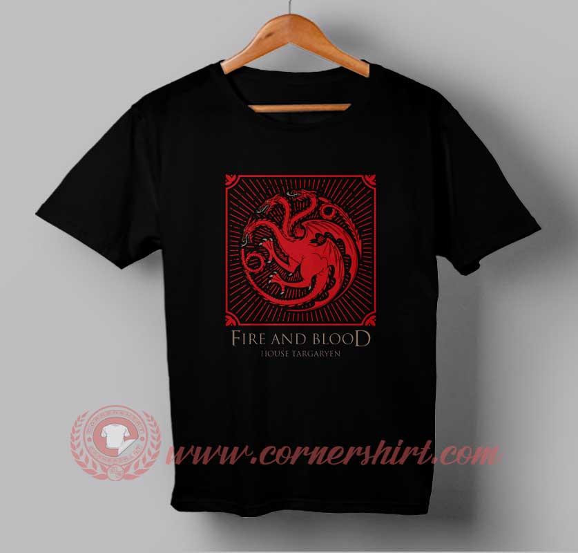 Fire and blood custom design t shirts custom shirt design for Custom fire t shirts