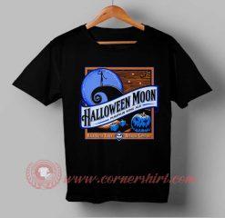 Halloween Moon Blue Pumpkin T shirt