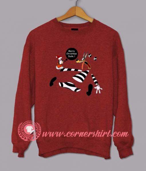 Merry Christmas Dude Custom Design Sweat shirts