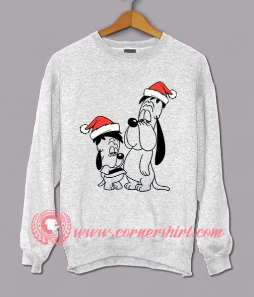 Merry Christmas Droopy And Soon Custom Design Sweat shirts