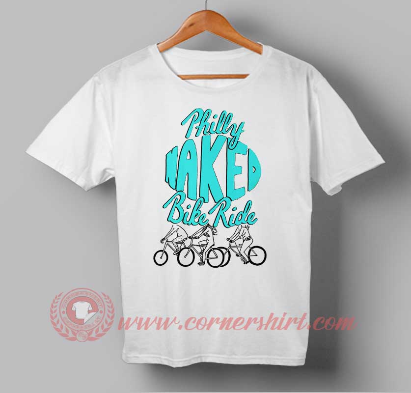philly naked bike ride t shirt custom design t shirts