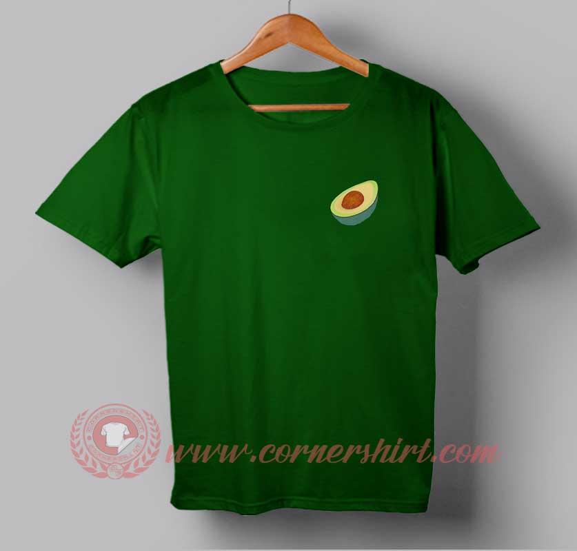 Pocket avocado custom design t shirts custom t shirt design for Custom t shirt with pocket