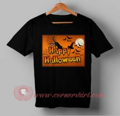 Cat Witch Happy Halloween T shirt