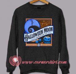 Moon Blue Pumpkin Halloween Sweatshirt