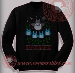 Funny Christmas Gifts For Friends Totoro Flight Sweatshirt