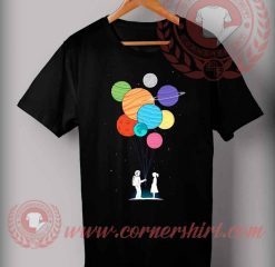 Cheap Custom Made Gift balloon Planets T shirts