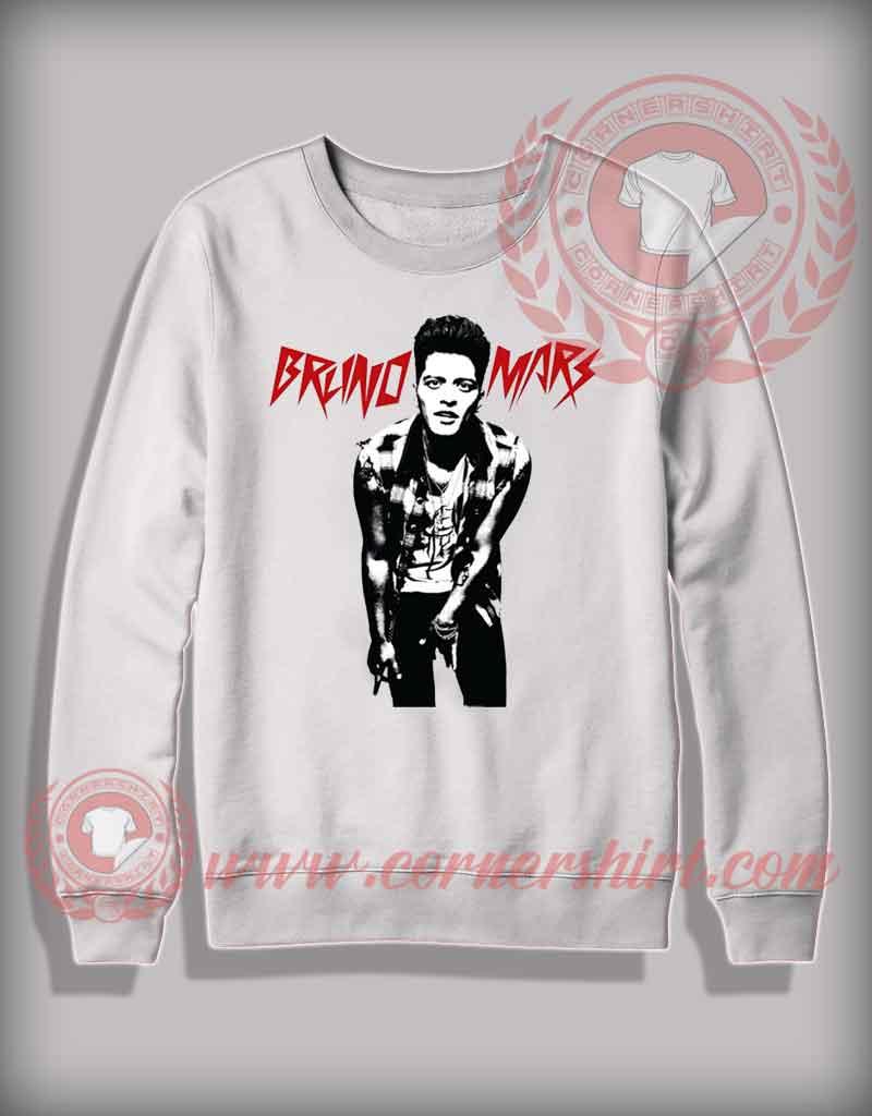 Cheap custom made bruno mars sweatshirt on sale by for Make custom shirts cheap