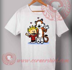 Cheap Custom Made T shirts Calvin And Hoobs