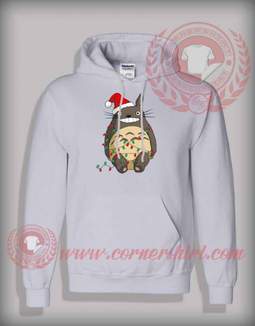 Christmas With Totoro Hoodie Funny Christmas Gifts For Friends