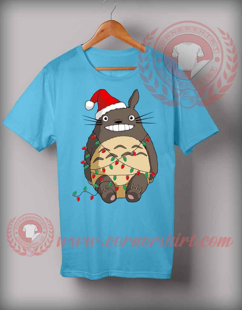 Santa Totoro T shirt Funny Christmas Gifts For Friends