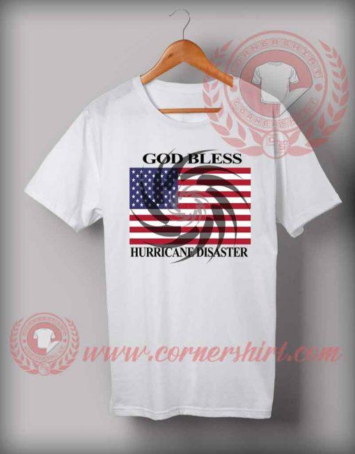 God Bless USA From Hurricane Disaster T shirt