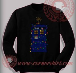 Funny Christmas Gifts For Friends The Tardis Christmas Sweatshirt