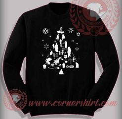 Funny Christmas Gifts For Friends Harry Potter Trees Sweatshirt
