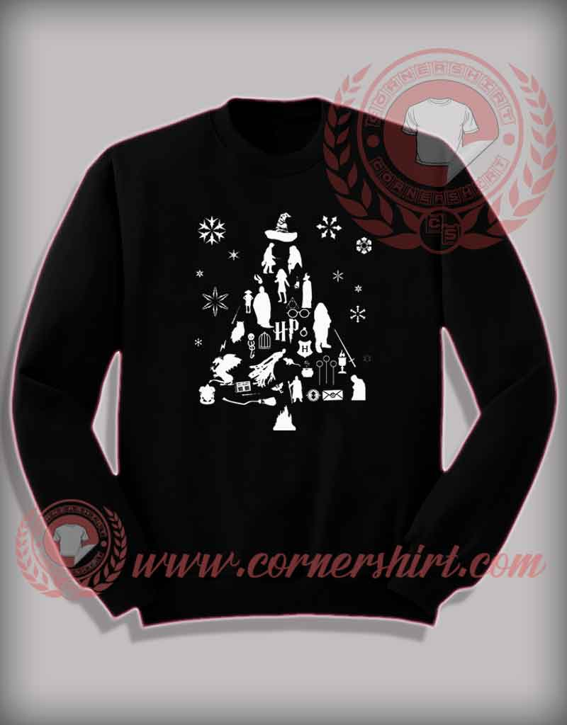 Harry Potter Christmas Shirt.Funny Christmas Gifts For Friends Harry Potter Trees Sweatshirt