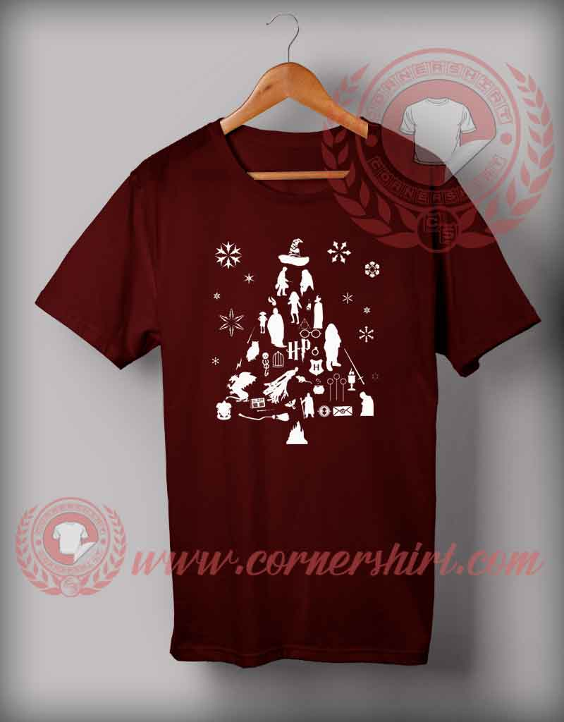 Harry Potter Christmas Gifts.Harry Potter Trees T Shirt Funny Christmas Gifts For Friends