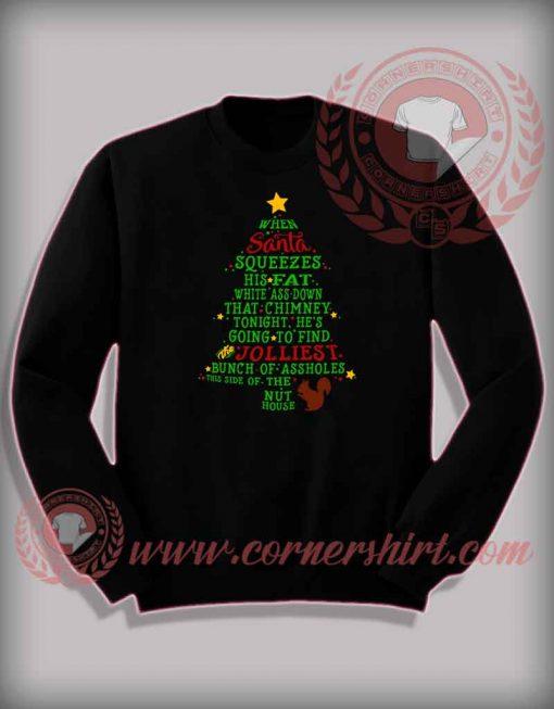 Funny Christmas Gifts For Friends Jolliest Bunch Sweatshirt